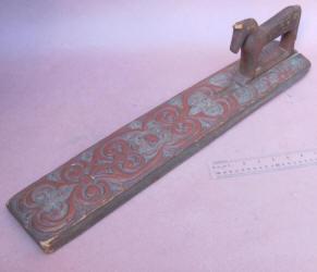 Scandinavian Figural Mangle Board / Iron