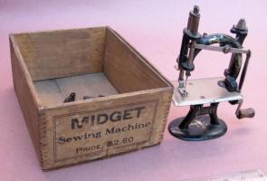 """""""Midget"""" Toy / Travel Size / Child-Size Antique Sewing Machine"""