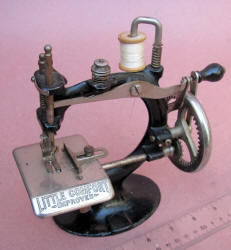 """""""Little Comfort Improved"""" Toy / Travel Size / Child-Size Antique Sewing Machine"""