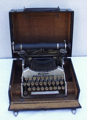 Standard Folding Aluminum Portable Typewriter