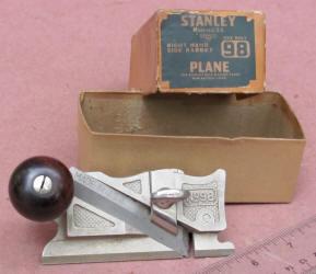 Stanley # 98 Side Rabbet Plane/ Original Box