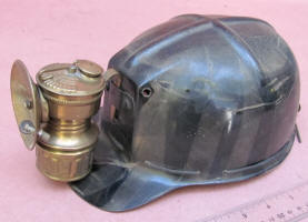 Miner's Hard Hat w/ Guy's Dropper Carbide Mining Lamp