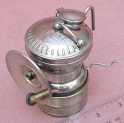Auto-Lite Nickel Plated Carbide Miners Lamp