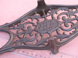 Patented  1869 Double End Cast Iron Cutout Boot Jack
