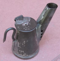 Vented Spout Oil Wick Mining Lamp