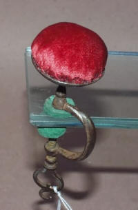 Antique Sewing Clamp Pincushion