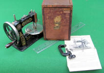 Stitchwell Cast Iron Toy Sewing Machine / TSM w/ Box