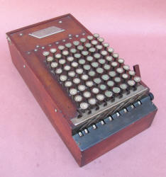 1st Model Wooden Case ShoeBox Comptometer Adder / Calculator