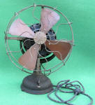 GE / General Electric Beaded Base Electric Fan w/ Pancake Motor