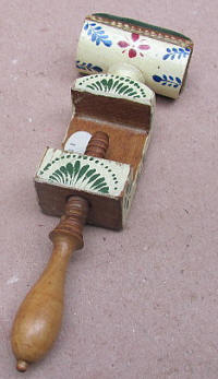 Folky Painted Wooden Pincushion Clamp