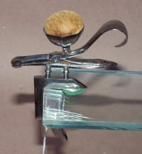 Stylized Antique Steel Sewing Clamp w/ Pincushion