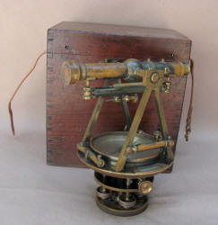 W. & L. E. Gurley Engineers / Surveyor's Transit w/ Double Mark F. W. Lincoln