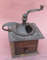 Vintage Cast Iron Top Lap Coffee Mill