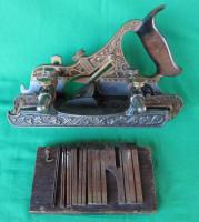 Stanley #42 Millers Patent Gunmetal / Bronze Plow Plane  w/ Fillister Bed & Wrap Around Fence