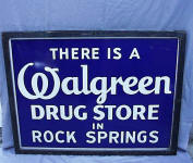 Walgreen Drug Store Porcelain Advertising Sign