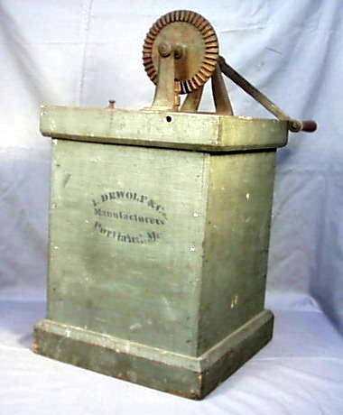 Painted Maine Butter Churn