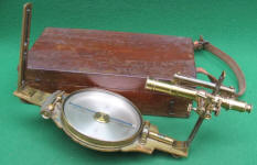 W. & L. E. Gurley Vernier Compass w/ Auxiliary Scope