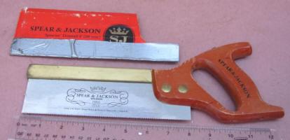 Spear & Jackson #54 8 Brass Back Dovetail Saw