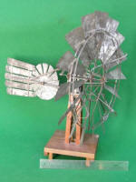 Salesman Sample Windmill w/ Auxiliary Rotor In Tail Vane