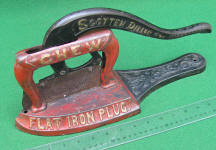 Scotten Dillon Co. Flat Iron Plug Tobacco Cutter
