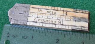 Stanley # 39 1' 4 Fold Ivory Rule