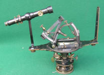 Gurley Solar Compass w/ Auxiliary Scope & Original Box