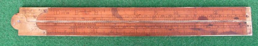 Stanley # 16 2' 2 Fold Engineers Rule w/ Gunter's Scales & Tables