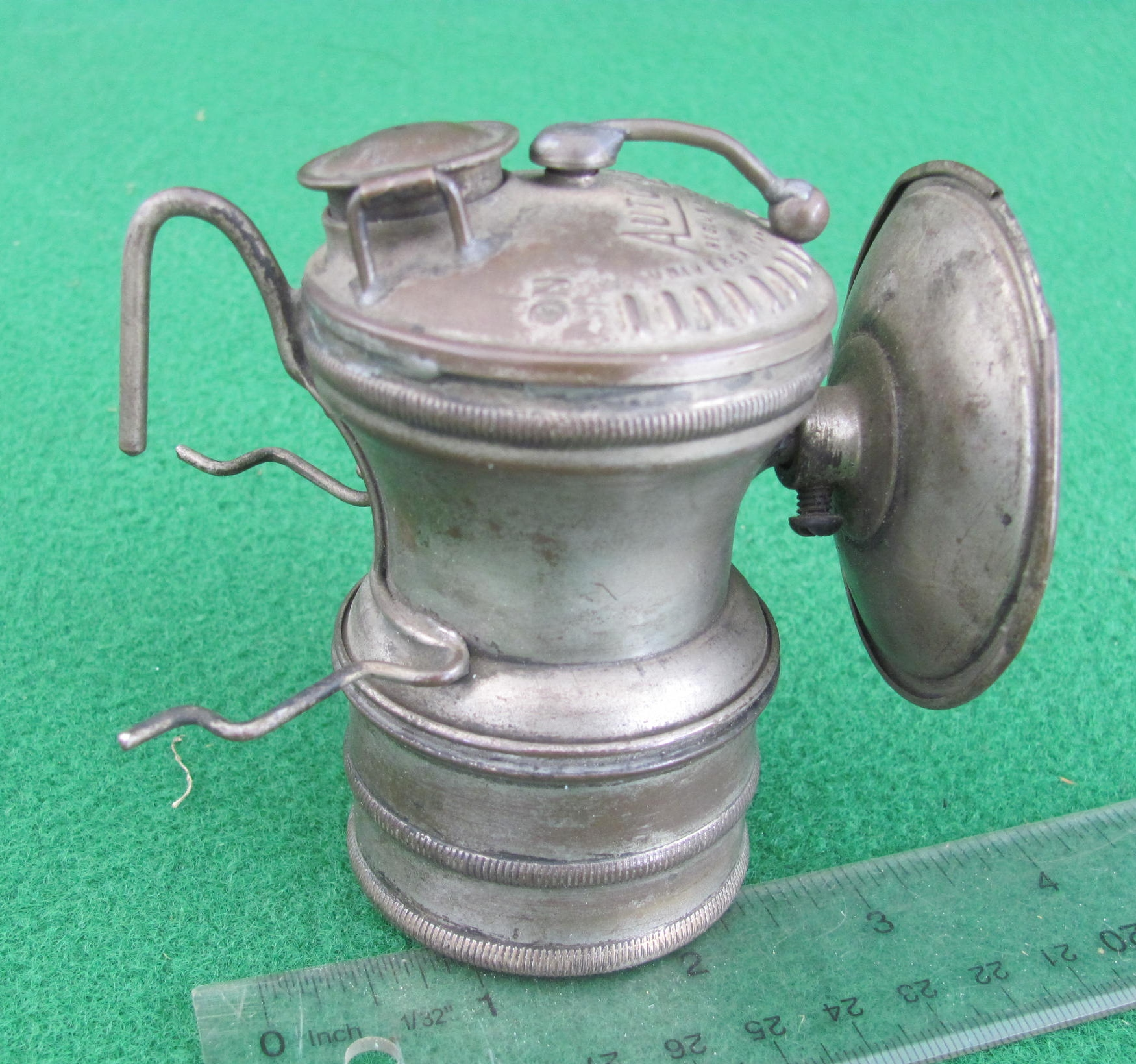 Autolite Nickeled Carbide Lamp