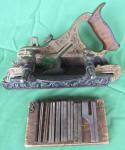 Stanley #42 Millers Patent Gunmetal Plow Plane w/ Fillister & Cutters
