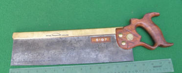 Henry Disston & Sons 12 Brass Back Saw