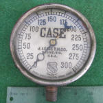 J. I. Case T. M. Co. of Racine Wis. Steam Engine Gauge