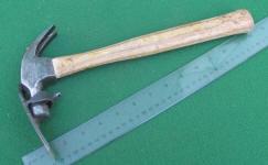 Van Slyke Tool Co. Adze / Hatchet Attachment on a Stanley 100 Plus 13 oz. Hammer