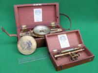 W. L. & E. Gurley #227 Surveyor's Vernier Compass w/ Auxiliary Scope