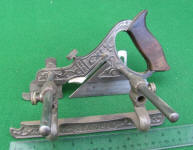 Stanley Millers Patent #141 Nickel Plated Plow Plane