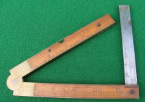 Stephens & Co. # 36 Architects Inclinometer Rule w/ Bevel