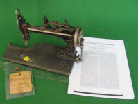 McLean & Bennor 1873 Patent Model Sewing Machine