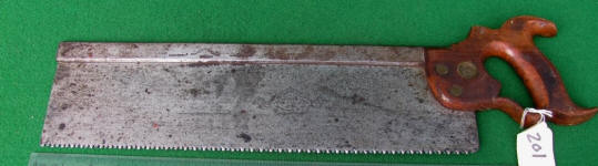 Henry Disston & Son 16 Inch  No. 77  Mechanics Own No Set Back Saw