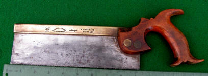 R. Grove & Sons Made For G Musgrove Lincoln 9 Inch Brass Backed Back / Tenon Saw