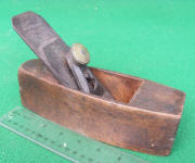 Taber 1865 Patent Transitional Smooth  Plane w/ Metal Lever Cap / Blade Holde