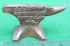 C.H. Benton Miniature Advertising Anvil / Salesman Sample / Paperweight