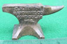 C.H. Benton Miniature Advertising Anvil / Salesman Sample / Paperweight