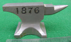 1776 / 1876  Miniature Centennial Commemorative Anvil Paperweight