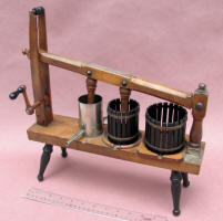 Salesman Sample of 1867 Musselman Patent of Combination Cheese / Fruit  Press and Stuffer Stuffer