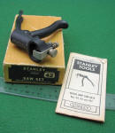 Stanley 42 X Saw Set in Original Box w/ Instructions