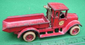 Arcade Baby Red Dump Truck