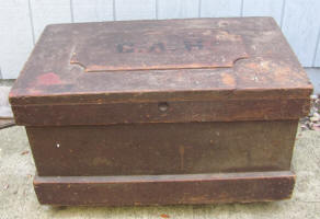 19th Century 4 Tray Tool Box w/ Dovetailed Corners