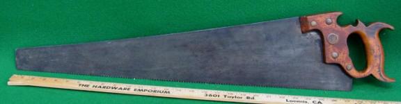 #24 Wheeler, Madden & Clemson Crosscut Saw w/ June 3 1879 Holden Patent Handle