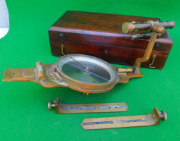 William Young & Sons Compass w/ Auxiliary Scope Serial # 4798