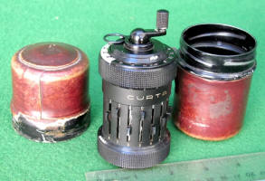 Type 1 Curta Calculator w/ Leather Covered Case