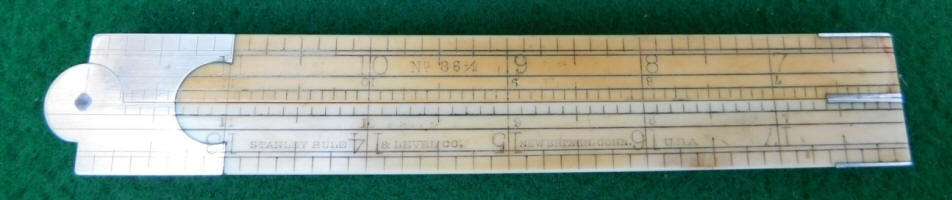 Stanley Rule & Level Co. # 86 1/2  Ivory 4 Fold 2' Architects Rule